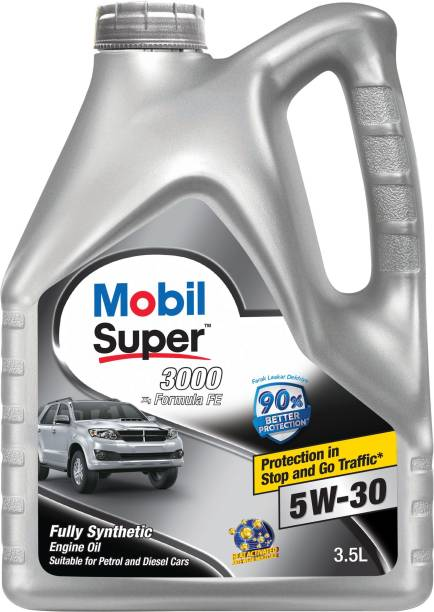 MOBIL Super 3000 X1 Formula FE 5W-30 Fully Synthetic Synthetic Blend Engine Oil