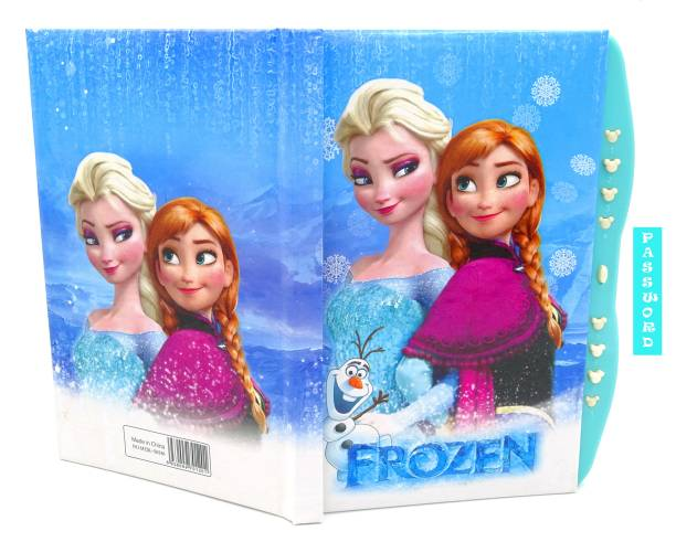 poksi NEW FROZEN ANNA ELSA LOCK DIARY KIDS NOTEBOOK A5 Notebook Ruled 200 Pages