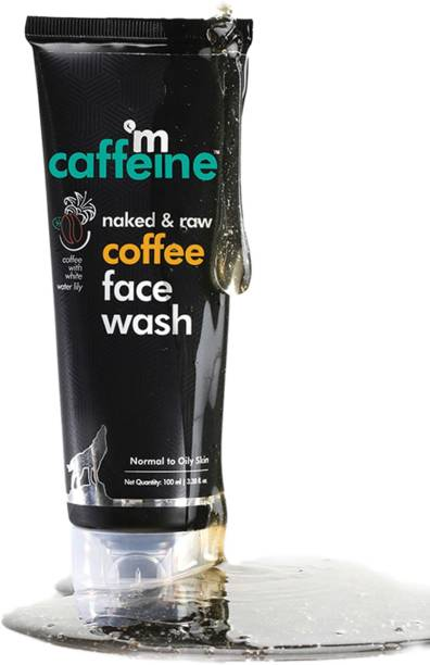 MCaffeine Naked & Raw Coffee  | White Water Lily | Deep Cleanser | Oily/Normal Skin | Paraben & SLS Free Face Wash