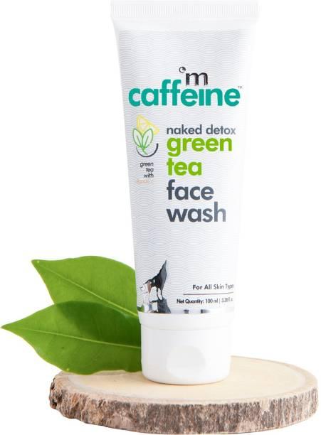 MCaffeine Naked Detox Green Tea  | Dirt Removal | Vitamin C, Hyaluronic Acid | All Skin | Paraben & SLS Free | Face Wash