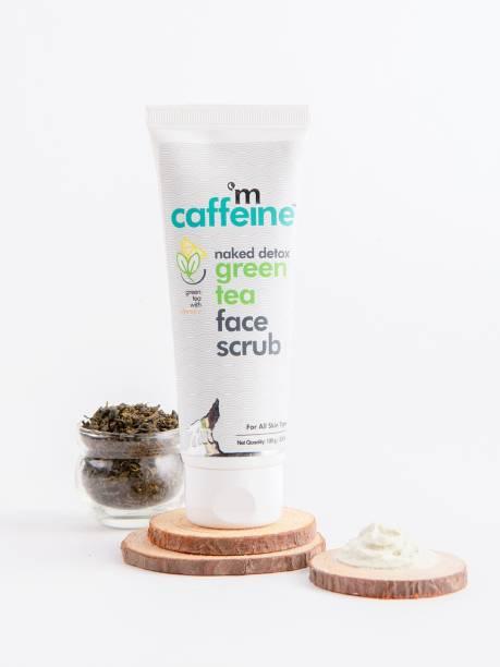 MCaffeine Naked Detox Green Tea Face Scrub | Exfoliation | Vitamin C, Hyaluronic Acid | All Skin | Paraben & SLS Free Scrub