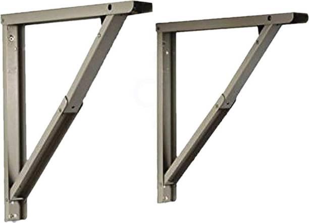 Flux Heavy Duty Folding Shelf Table Brackets Foldable Steel Powder Coated Multipurpose Bracket with Fittings for Fold Down Table Wall Mounted Shelf Bracket Max Load 220 lbs (100 kg) max 16 inch 16 Shelf Bracket