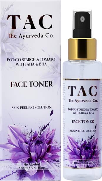 TAC - The Ayurveda Co. Potato Starch & Tomato with AHA & BHA Face Toner, Skin Exfoliation Men & Women