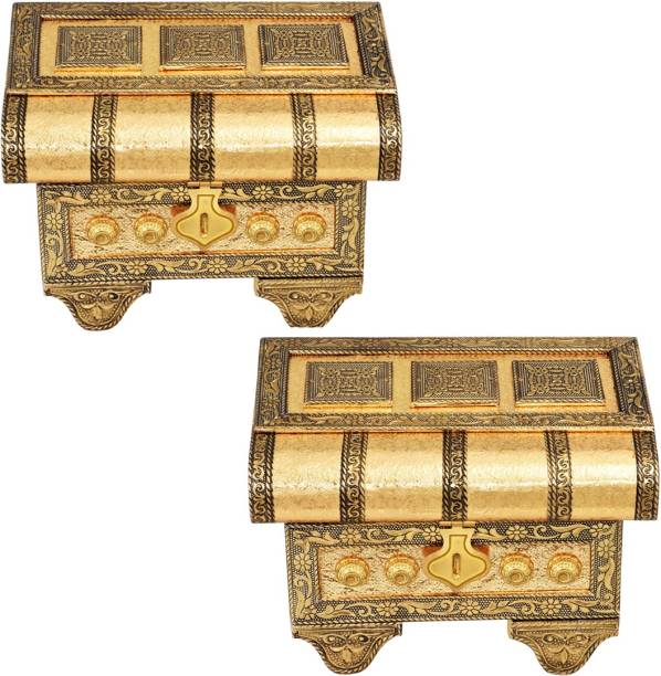 OTTER Jewellery Box, Gift Box, Minakari Work, Venity Box, Oxidized, Earrings Box, Wedding Gifts PACK OF 2 JEWELLERY Vanity Box
