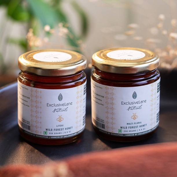 ExclusiveLane Naturals 'Natural Forest Honey' Pack of 2 (Multi-Floral & Litchi, 250g each)