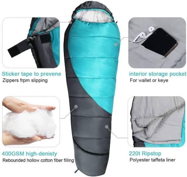 Lyrovo Hiking & Camping Waterproof Ultra Soft Furred and Warm Sleeping Bag Sleeping Bag