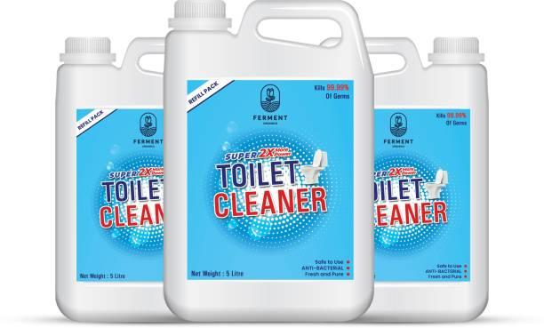 FERMENT Toilet Clener Liquid 15 Ltr (5+5+5Liter) Pack of 3 Original Liquid Toilet Cleaner