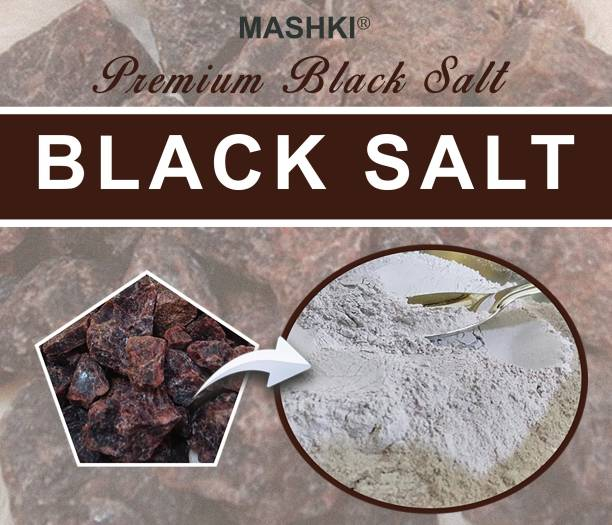 MASHKI Finely Powdered Black Salt 100% Natural and Premium Quality Exotic Bath Salt For Muscle Relief, Skin Care, Hair Care And Multipurpose Salt