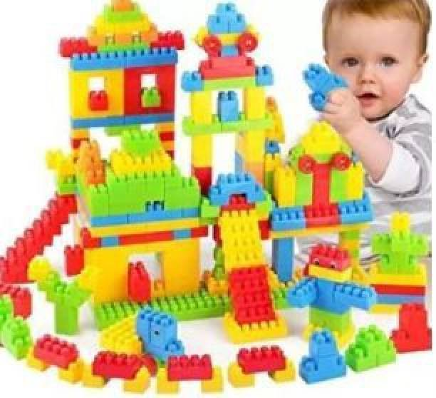 ADICHAI 265 Pieces Building Small Blocks for Kids with Wheel Age 3+, Smart Activity Fun and Learning Train Blocks For Kids, Multi Color Building Bricks and Blocks for Kids, 265 Pieces Learning Block, Multicolor