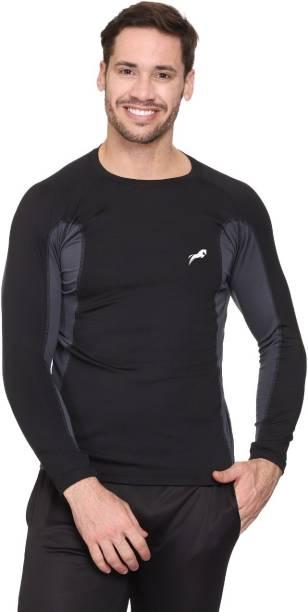 Just Rider Unisex Round Neck Full Sleeve Gym Tshirt Men, Women Compression