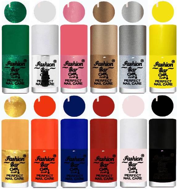 Fashion Bar Exclusive Color Range Nail Polish Set of 12 Multicolor