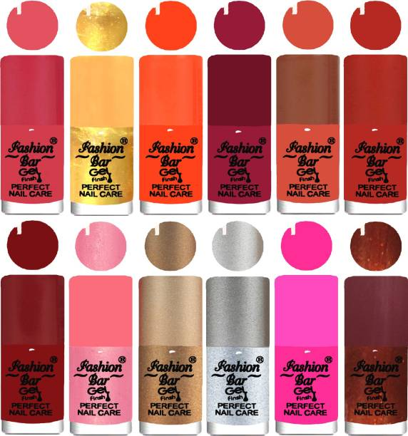 Fashion Bar Neon Nail Polish Combo 08 Multicolor