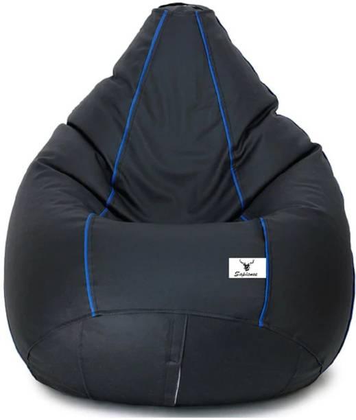 Sapience XXL Pouffe Bean Bag Cover  (Without Beans)