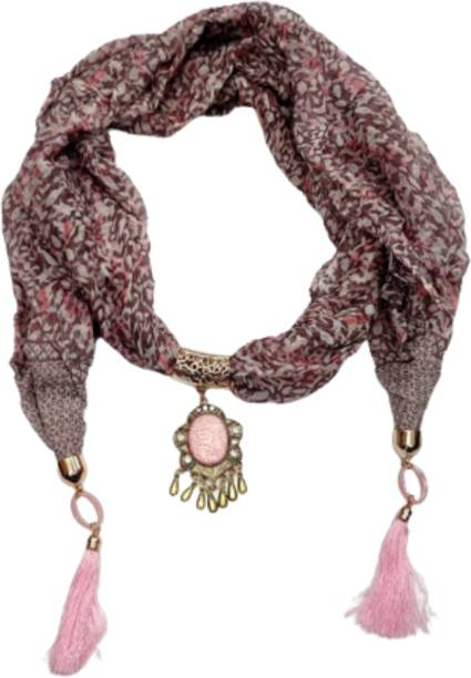 INDIA MEETS INDIA Floral Print Cotton Blend Women Fancy Scarf