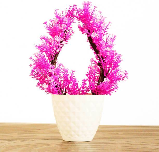 HANIRY Artificial plant for home decoration set of 2 table plant for office ,balcony ,dining table , Plastic Flower Basket Plastic Flower Basket