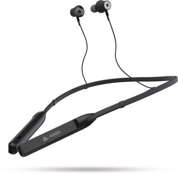 Aroma NB119B - 40 Hours Playtime with superior sound Neckband Bluetooth Headset