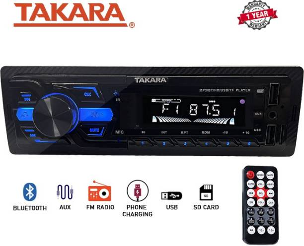 Takara CAR BLUETOOTH/FM/USB/AUX PLAYER WITH PHONE CHARGING T-2525 Car Stereo
