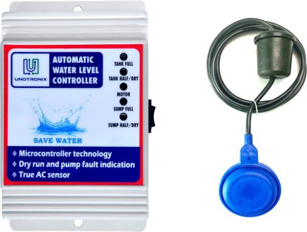 UNOTRONIX Fully automatic water level controller with SS304 sensor and float sensor Water Leak Detector