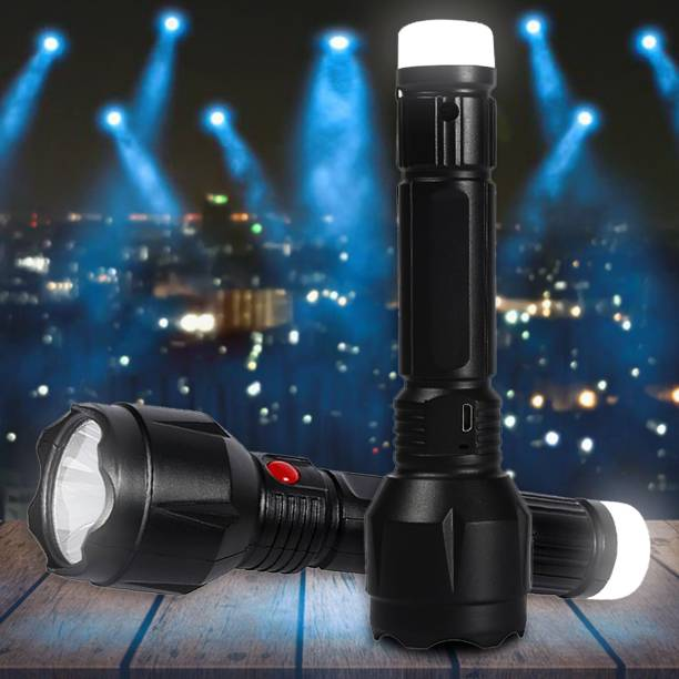 Pick Ur Needs Dual Mode Power Full Led Rechargeable Torch Up to 400 Meter Range With Back Light Small Led Torch Torch Emergency Light