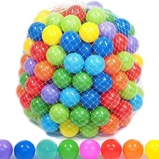 GoodLuck Baybee 96pcs Large Big Size Plastic Kids Pool Ball for Kids 8cm 96pcs Non Toxic Balls for Kids Bath Toy