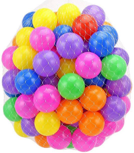 GoodLuck Baybee 24pcs Large Big Size Plastic Kids Pool Ball for Kids 8cm 24pcs Non Toxic Balls for Kids Big Size Bath Toy (Multicolor) Bath Toy