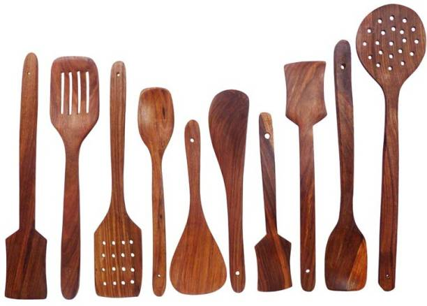 famous gallery Wooden Serving Spoon Set