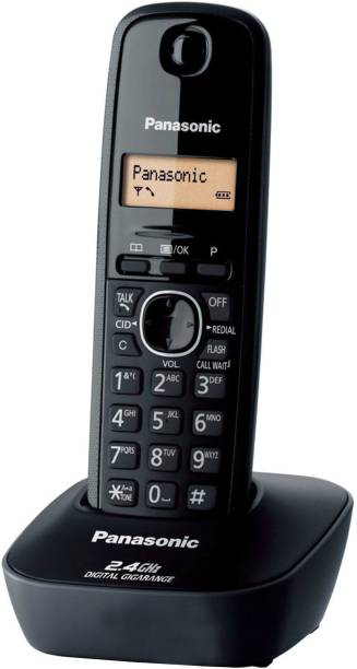Panasonic KX TG3411SXH Cordless Landline Phone   Black  Panasonic Landline Phones