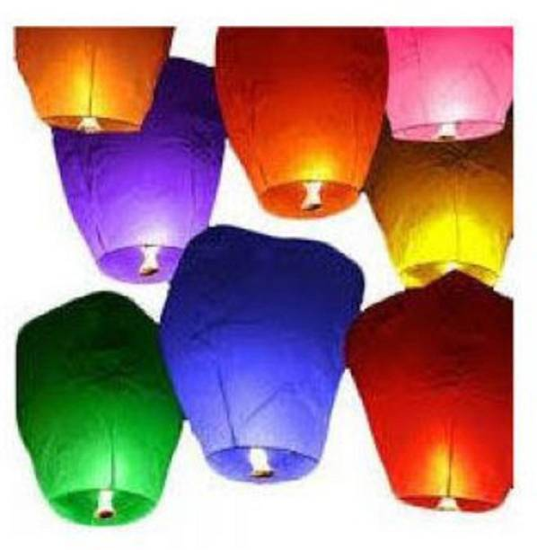 Singh Xpress Exciting Flying Paper Hot Air Balloon With Burning Kit  Combo Of 100  Multicolor Paper Sky Lantern