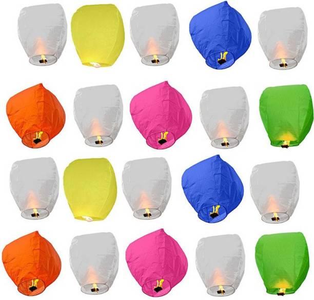 ByCue 35 Paper Multicolor Sky Lanterns Multicolor Paper Sky Lantern