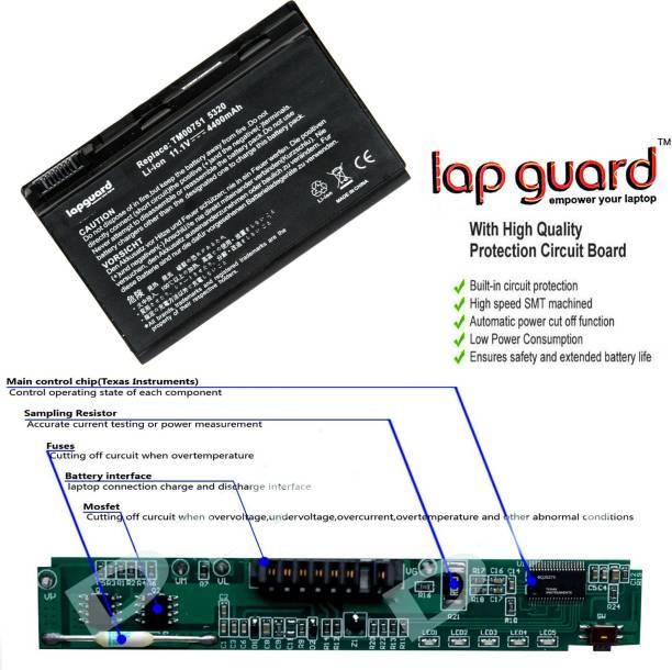 lapguard Acer TravelMate 7520-6A2G16Mi 6 Cell Laptop Battery