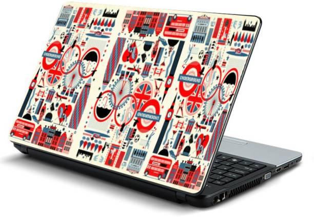 ShopRiDer Multicolor,Designer -396 Vinyl Laptop Decal 15.6