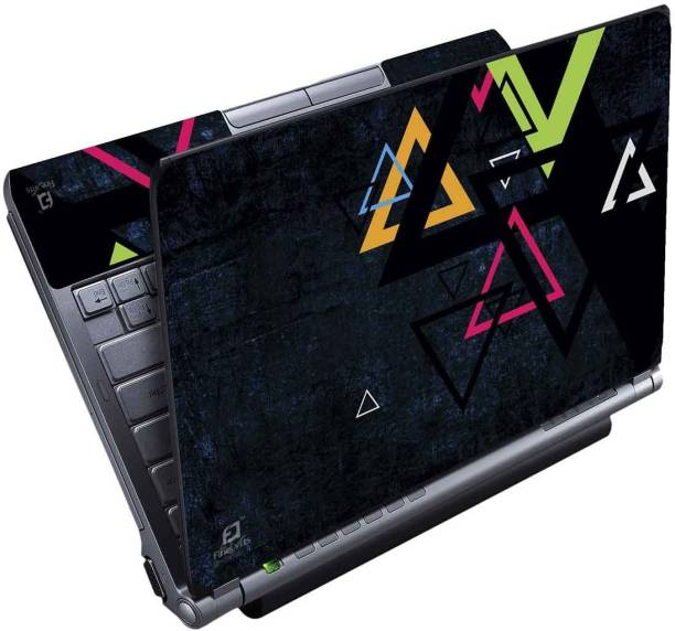 FineArts Triangles Full Panel Vinyl Laptop Decal 15.6