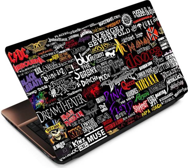 FineArts Band Names Vinyl Laptop Decal 15.6