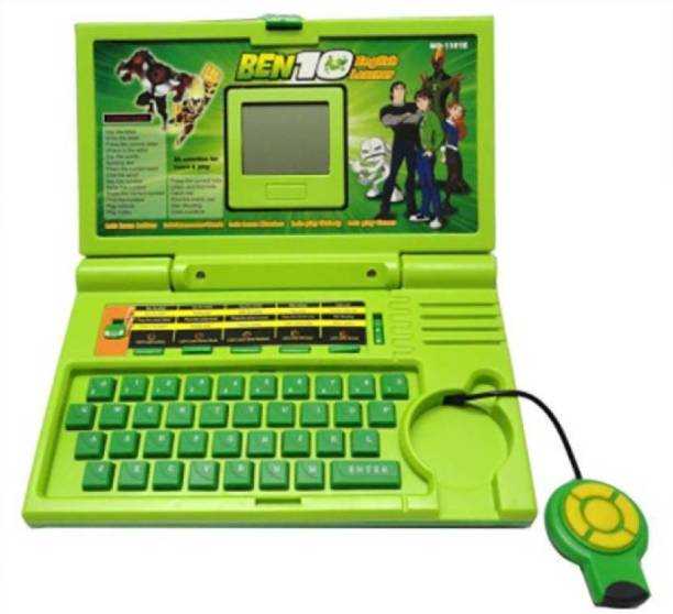 24 Carat Ben 10 English Learner Kids Laptop with 20 Activity