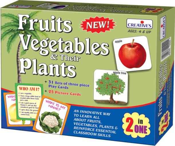 Creatives Fruits, Vegetables & Their Plants 2 in 1