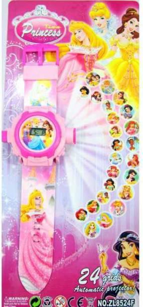 AayKayEnterprises Girls Princess Projector Watch
