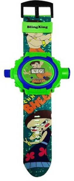Firstep Chota Bheem Projector Digital Watch With 24 Images for Kids