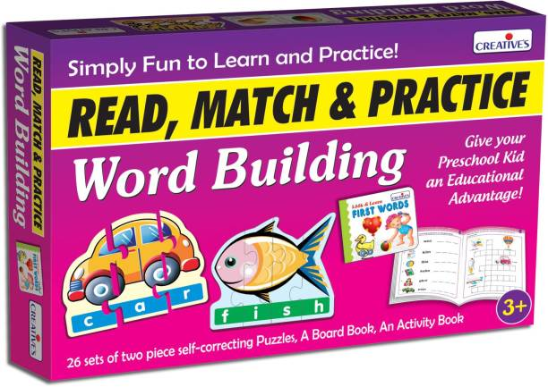 Creatives Read, Match & Practice Word Building 3 in 1 Word Games Board Game