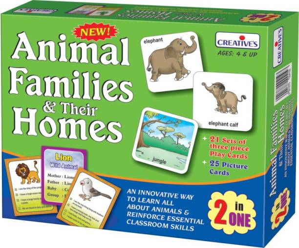 Creatives Animal Families & Their Homes 2 in 1