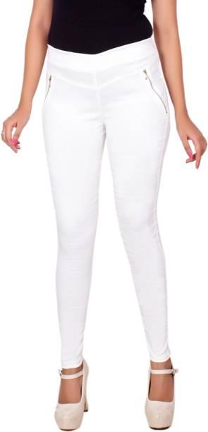 0d6cb8e5aa37bf White Jeggings Treggings - Buy White Jeggings Treggings Online at ...