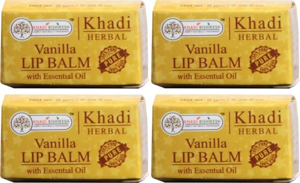 Khadi Rishikesh Herbal Pack of 4 Lip Balm Vanilla