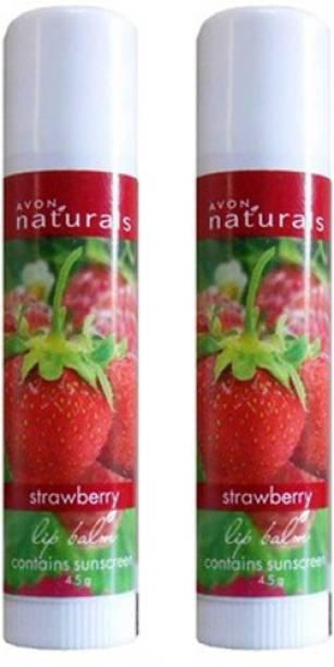AVON Naturals Strawberry Lip Balm Combo Pack (4.5g each) Strawberry