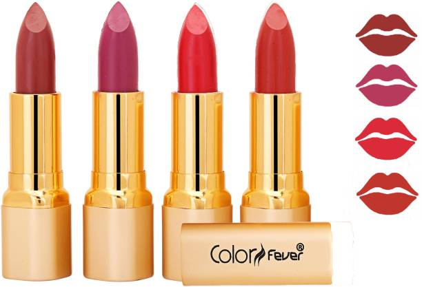 Color Fever Exclusive Long Lasting Intense Wear Matte Lipstick (Multicolor) 52