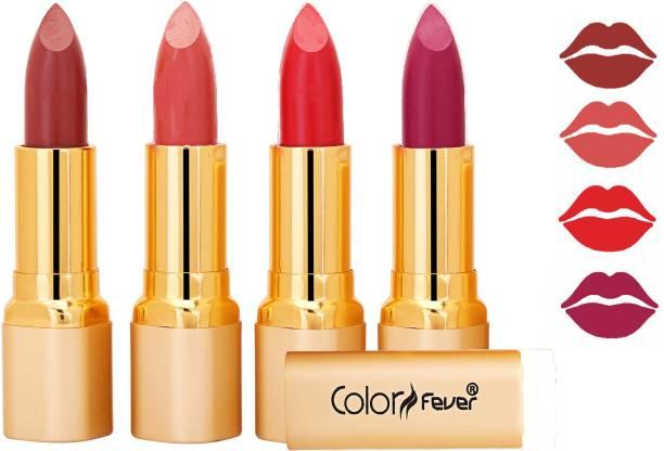 Color Fever Exclusive Long Lasting Intense Wear Matte Lipstick (Multicolor) 100