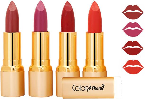 Color Fever Exclusive Long Lasting Intense Wear Matte Lipstick (Multicolor) 48