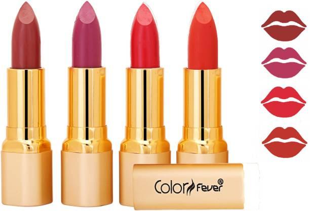Color Fever Exclusive Long Lasting Intense Wear Matte Lipstick (Multicolor) 53