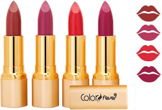 Color Fever Exclusive Long Lasting Intense Wear Matte Lipstick (Multicolor) 50