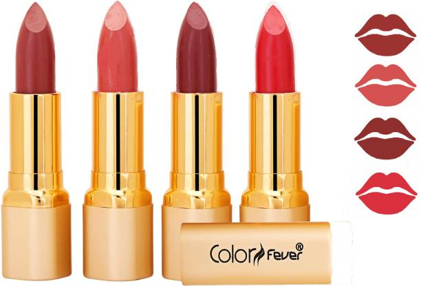 Color Fever Exclusive Long Lasting Intense Wear Matte Lipstick (Multicolor) 66
