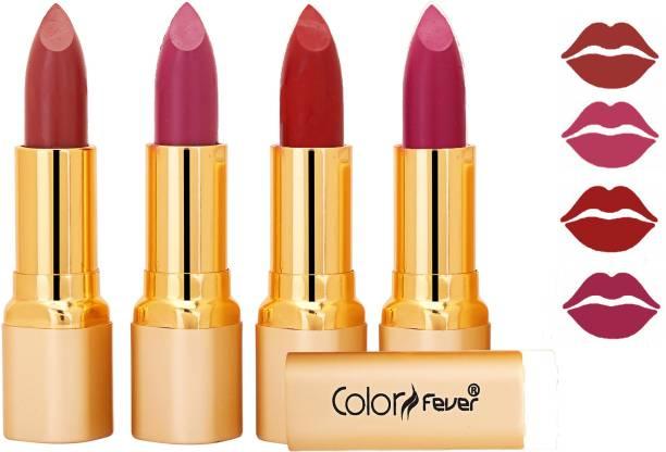 Color Fever Exclusive Long Lasting Intense Wear Matte Lipstick (Multicolor) 45