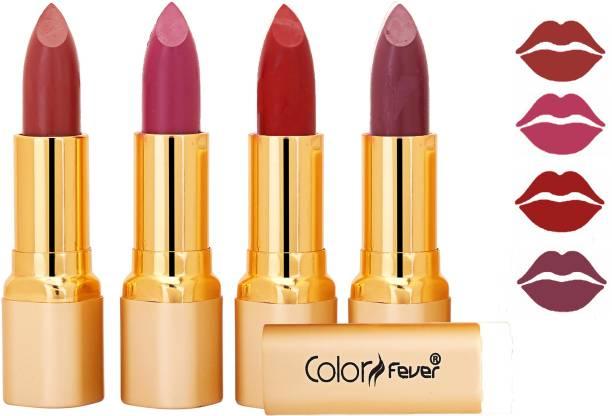 Color Fever Exclusive Long Lasting Intense Wear Matte Lipstick (Multicolor) 44